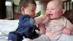 Lovely Baby's Playing Very Funny صحبت نوزادان شیرین تپل