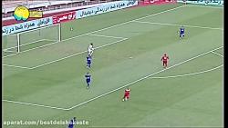 خلاصه بازی جذاب و جنجالی فولاد و استقلال - دو پنالتی دو گل!