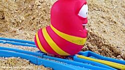 ماشین بازی - اسباب بازی کودکانه - قطار بازی عروسک های لاروا