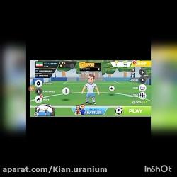یک گیم از بازی soccer battle