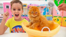 ولاد و نیکیتا :: این داستان ولاد و نیکی بچه گربه پیدا میکنند