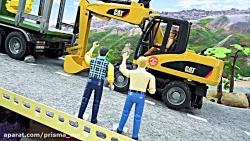 ماشین بازی / اسباب بازی / جنگلداری با الوار ، بیل مکانیکی ، تراکتور 216