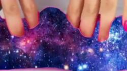 اسلایم کهکشانی ساخت خودم