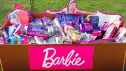 عروسکهای باربی و وسایل باربی در جعبه بزرگ !