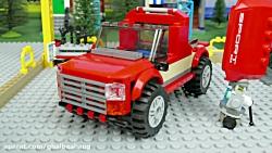 ماشین بازی کودکانه ... اسباب بازی کودکان ... ساخت ماشین قرمز لگویی