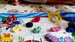 بازی با پک ۱۰ تایی خمیر ...