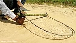 ساخت تله ی پرنده با چوب ...