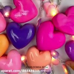 اسلایم کلی قلبی تقدیم به فالورام