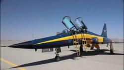 مانور هوایی تماشایی ٣ فروند جنگنده جدید کوثر