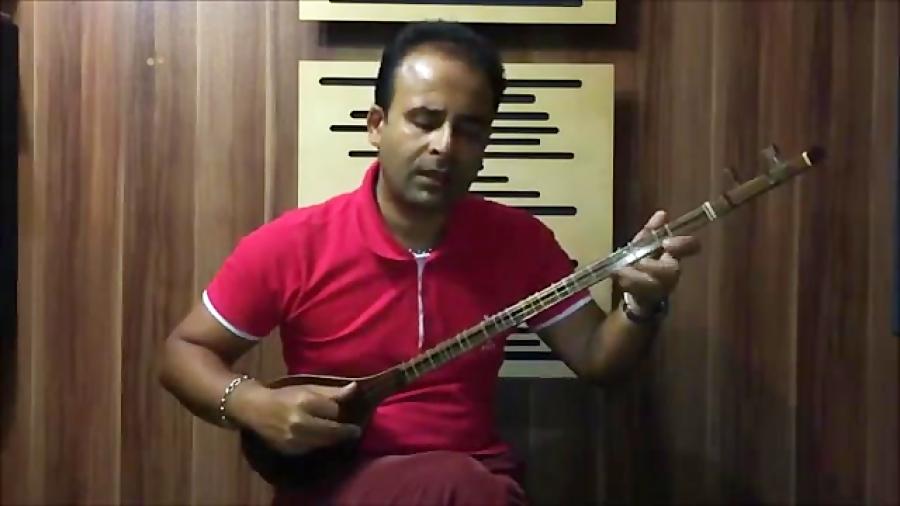 فیلم تمرین روی سیم ۱ برگهی ۲۴ کتاب آموزش سهتار 1 جلال ذوالفنون سهتار نیما فریدونی
