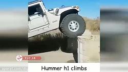 خودروی پرطرفدار هامر که به معنای واقعی از دیوار راست بالا میرود