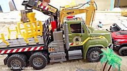 اسباب بازی کودکانه/ماشین بازی/مونتاژ/کامیون/تریلی/آمبولانس/جرثقیل/موتور