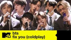 کاور اهنگ 'Fix You' از Coldplay توسط BTS در مراسم MTV Unplugged 2021 ؛ 1080p