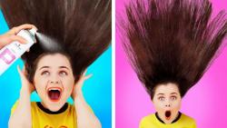 سرگرمی در خانه و ایده هایی برای موها و لباس