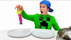 مکس و کتی : چالش خوراکی بزرگ و کوچک
