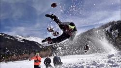 نبرد ورزشی در برف | (دود ...