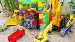 اسباب بازی کودکانه/ماشین بازی/نجات اتوبوس/جرثقیل/کامیون/مکعب های خانه سازی/لودر