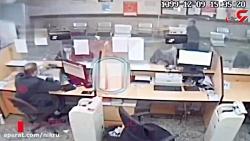 فیلم لحظه دزدی جسورانه از بانکی در قم