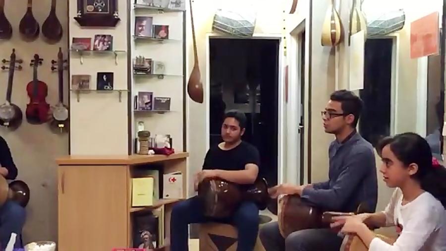 تمرین گروهنوازی تمبک زیرنظر ایمان ملکی
