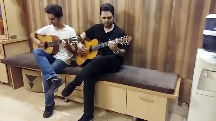 حسین آذرنیا هنرجوی دروه متوسطه گیتار فرزین نیازخانی