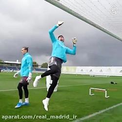 تمرین رئال مادرید با آمادگی کامل راموس