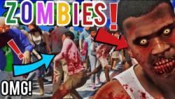 زامبی کشی در جی تی ای وی شکار زامبی درgtav خیلی حال داد
