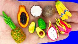 آموزش انواع میوه و خوراکی باربی