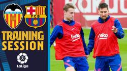 آخرین تمرینات بارسلونا پیش از دیدار با والنسیا ( شنبه )