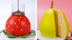 آموزش تزیین کیک با فوندانت:: کیک میوه ای:: تزیین کیک و دسر