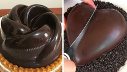 ایدههای جدید تزیین کیک شکلاتی:: آموزش تزیین کیک