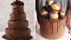 ایدههای خلاقانه تزیین کیک شکلاتی:: آموزش تزیین کیک