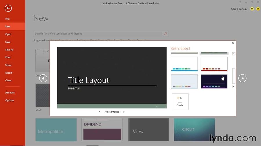 آموزش پاورپوینت 2016 - بکارگیری قالب ها در ایجاد اسلاید