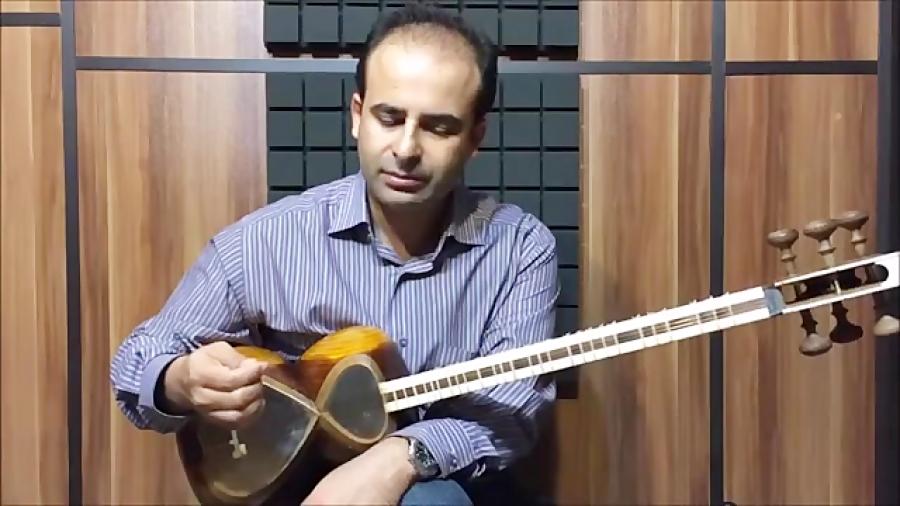 فیلم آموزش بخش ۱۹ دست راست در تار و روش مضراب زدن بنیادهای نوازندگی تار محمدرضا لطفی نیما فریدونی
