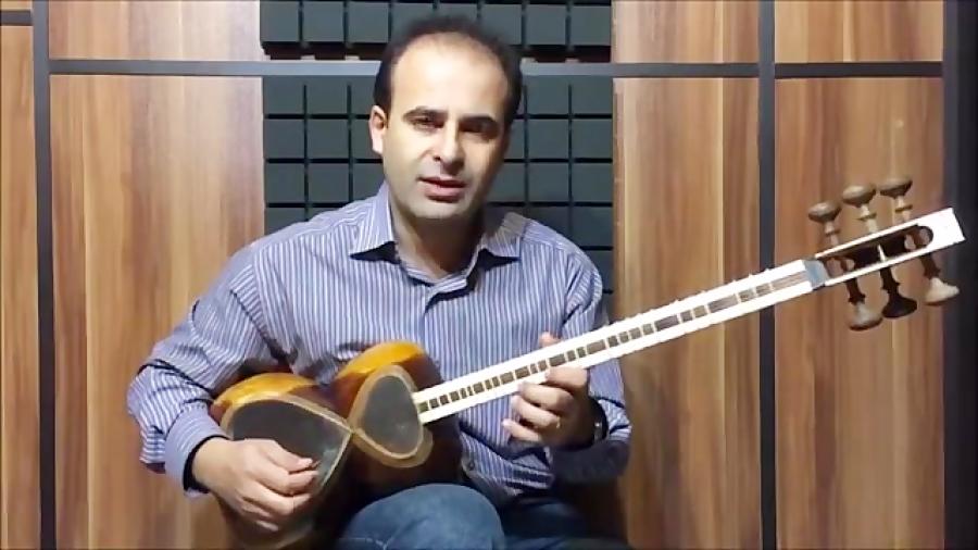 فیلم آموزش بخش ۴۰ مضراب دزدیده ی راست بنیادهای نوازندگی تار محمدرضا لطفی نیما فریدونی