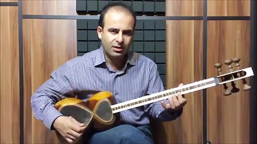فیلم آموزش بخش ۷۳ طرز قرار گرفتن انگشت روی پرده بنیادهای نوازندگی تار محمدرضا لطفی نیما فریدونی