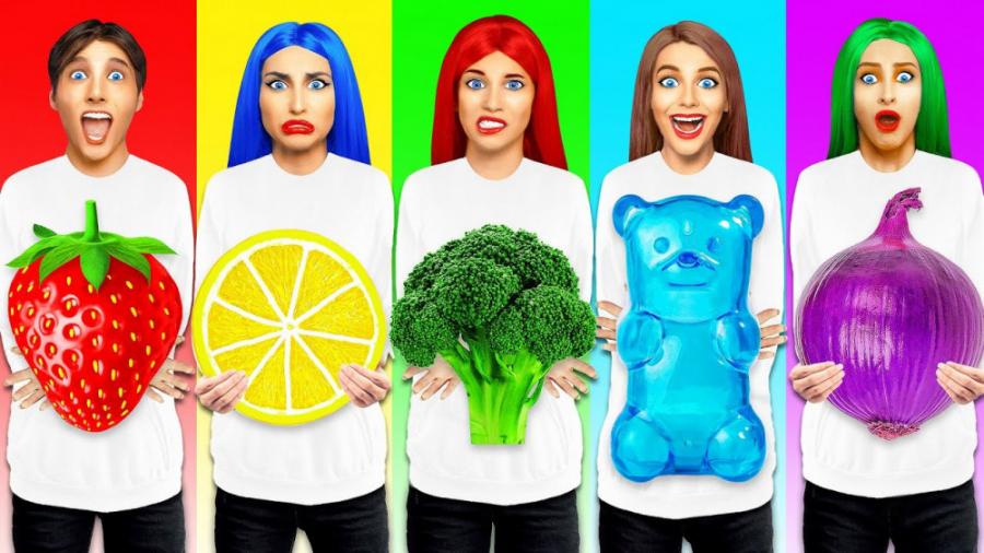 چالش غذاهای رنگی