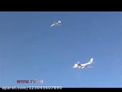 اسکورت بمب افکن های روسیه با جنگنده اف 14 ایران
