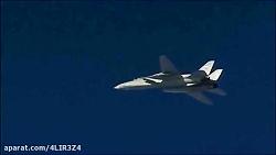 اسکورت بمب افکن روسی توسط جنگنده های ایرانی در سوریه