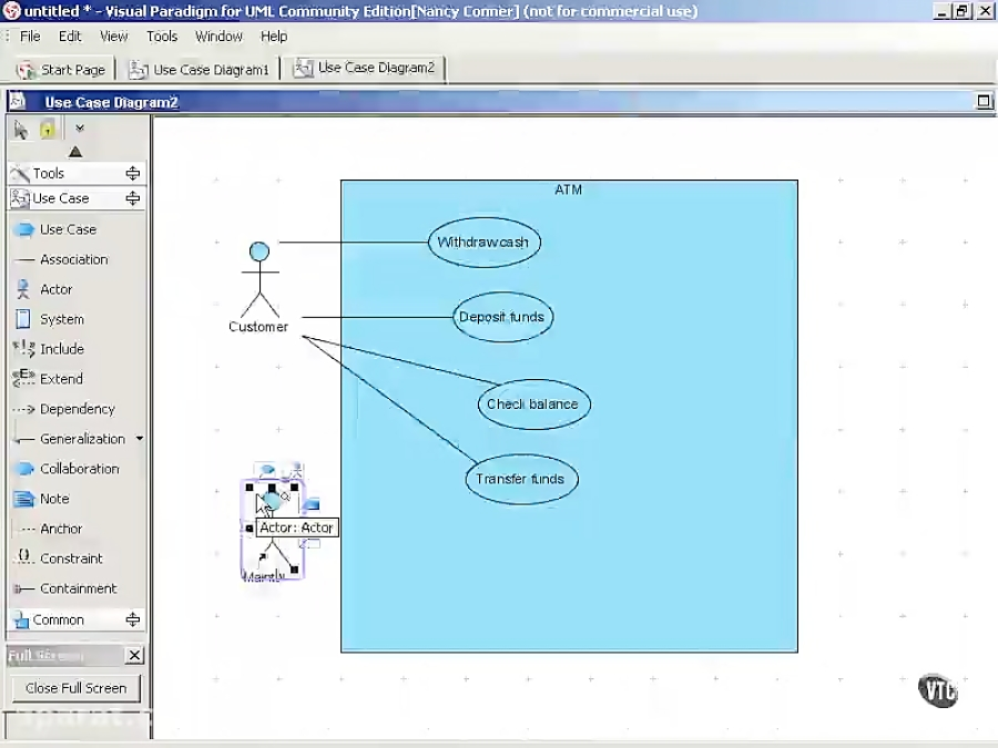 3 3 A Use Case Diagram For An Atm