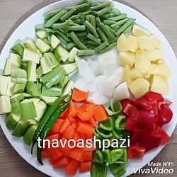 اشپزی مرغ سبزیجات