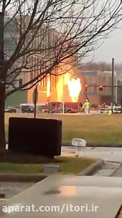 انفجار تانکر آتش نشانی!
