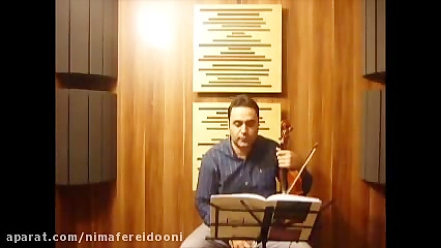 فیلم آموزش ویولن کتاب دوم هنرستان روح الله خالقی تمرین ۴۸ ایمان ملکی