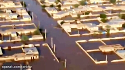 بازدید هوایی استاندار خوزستان از مناطق سیل زده