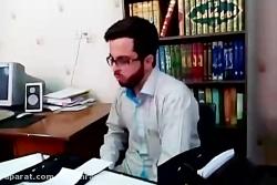 مداح محمدرمضانی درحال تمرین سبک شعر بی بی رقیه س