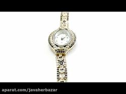 ساعت نقره مجلسی طرح ایشین زنانه - کد 12992