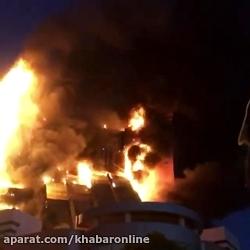 آتش، برج سلمان مشهد را خاکستر كرد