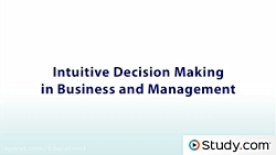 The Intuitive Decision Making Model