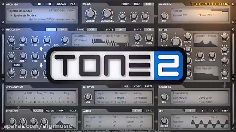دانلود وی اس تی سینت سایزر Tone2 Electra2 V2 1