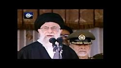 ما در مقابل تهدید ، تهدید میکنیم.(بیانات مقام معظم رهبری  در دانشگاه افسرى امام على (علیه السلام)