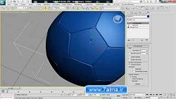 آموزش مدلسازی در 3ds max - توپ والیبال بسکتبال فوتبال تنیس - 7alma.ir